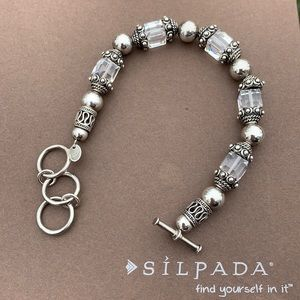 B1147 Silpada Sterling Swarovski Crystal Bracelet